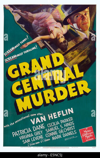 GRAND CENTRAL MURDER, US poster art, Van Heflin, 1942 - Stock Image