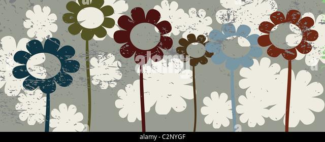 Floral illustration - Stock Image