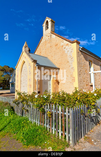 Old church in the Murray River township of Goolwa South Australia - Stock-Bilder