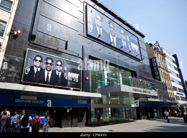 Odeon Cinema at Leicester Square, London, England, UK - Stock Image