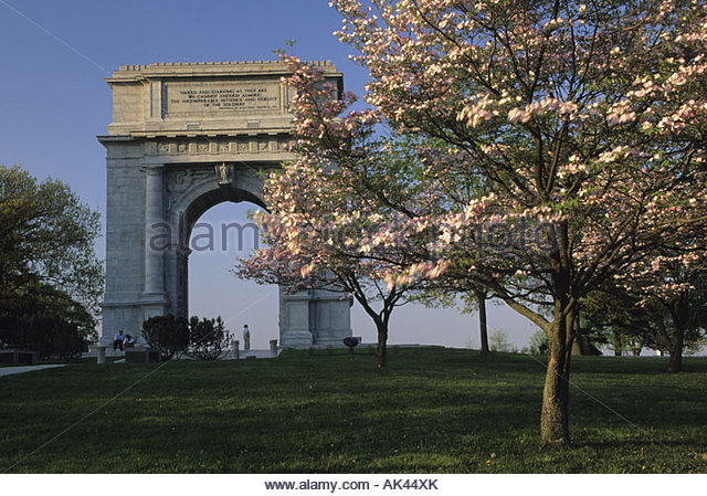 National Memorial Arch At Valley Forge Stock Photos National Memorial Arch At Valley Forge