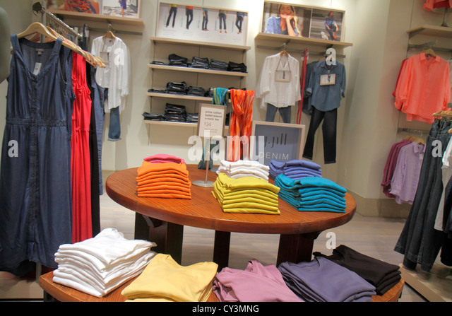 Rhode Island Providence Providence Place Mall shopping retail display for sale sign woman's clothing fashion - Stock Image