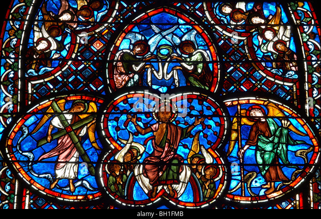 Bourges Cathedral Stained Glass And Right Hand