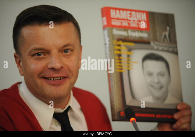 Journalist Leonid Parfyonov launches book ?The Other Day. Our Epoch. 1961-1970? - Stock-Bilder