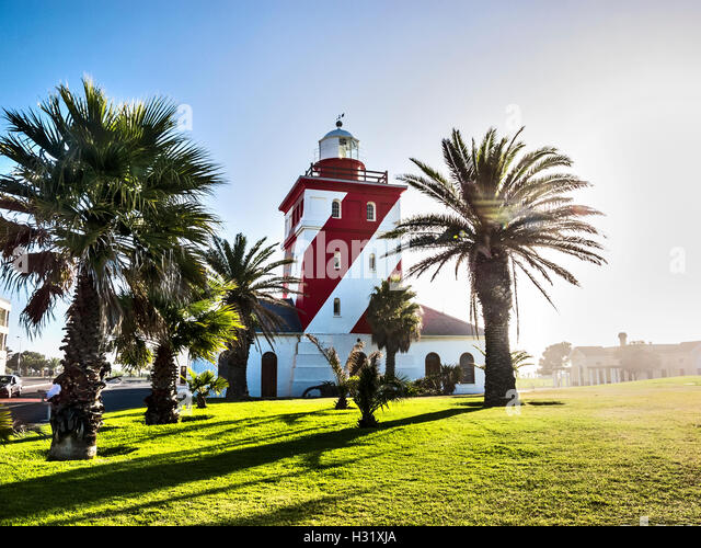 Green point light house in Cape Town - Stock Image