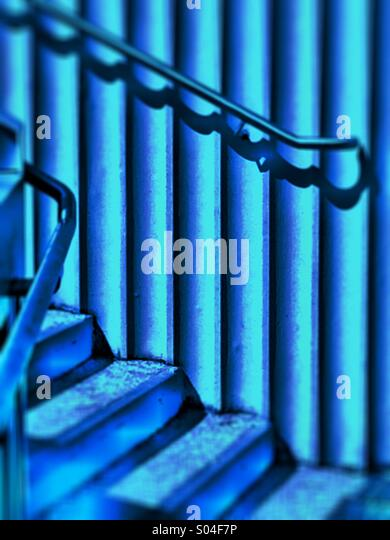 Selective focus on modern architecture steps concep - Stock Image