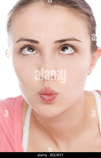 Woman making squint - Stock Image