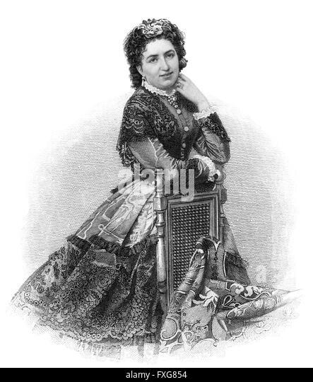 Valesca Guinand, 1837-1916, actress - Stock-Bilder