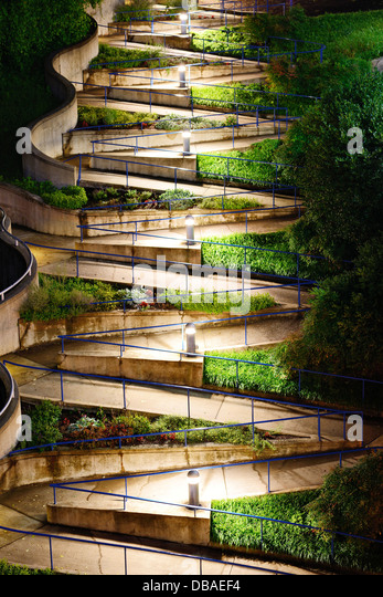 Zig Zag walkway in Chattanooga, Tennesse. - Stock-Bilder