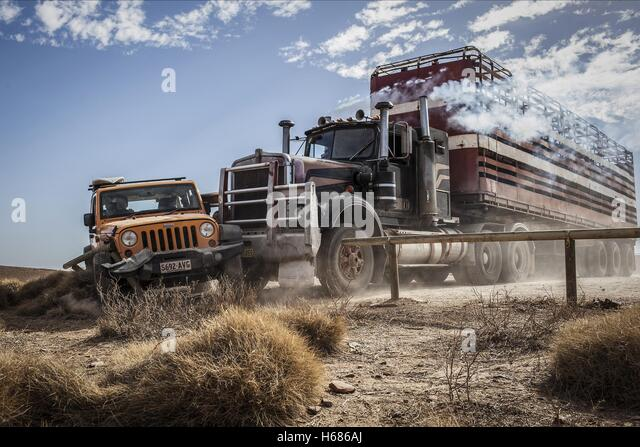 CRASH SCENE WOLF CREEK 2 (2013) - Stock Image