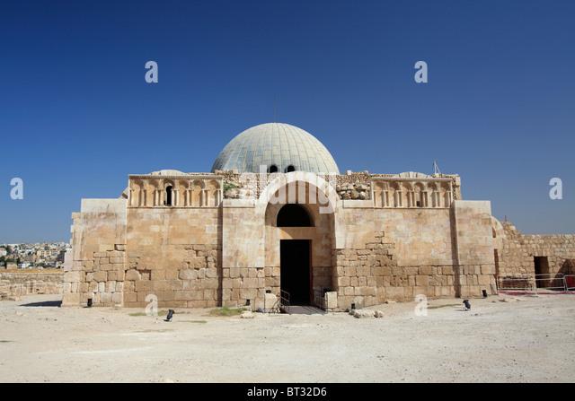 Umayyad palace at Amman Citadel, Amman, Jordan - Stock Image