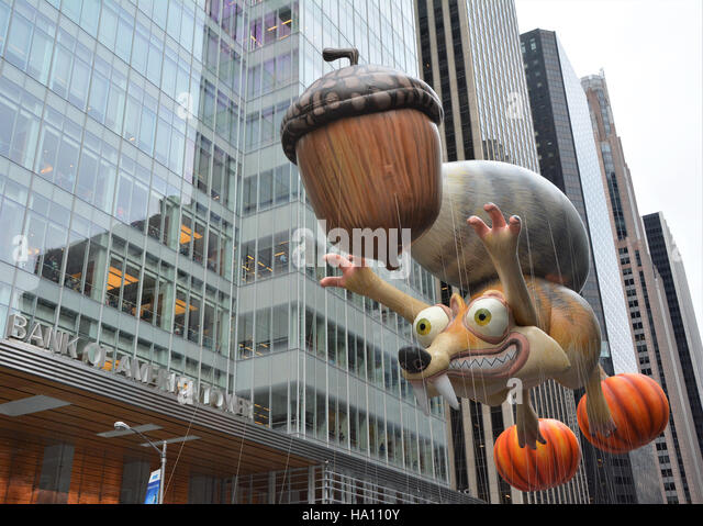 Scrat and his Acorn from the movie Ice Age. - Stock Image