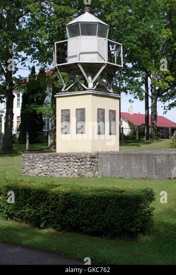 Seamen's memorial located in Ainazi. Latvia, Baltic States, EU - Stock Image