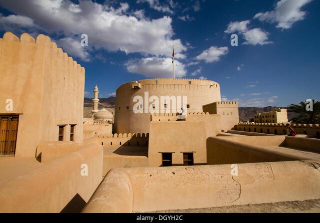 Nizwa Fort, Nizwa, Ad Dakhiliyah region, Oman - Stock Image