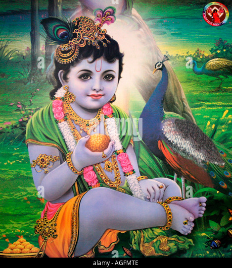 Lord Krishna - Stock Image