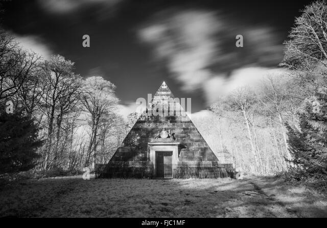 The Mausoleum at Blicking - Stock Image