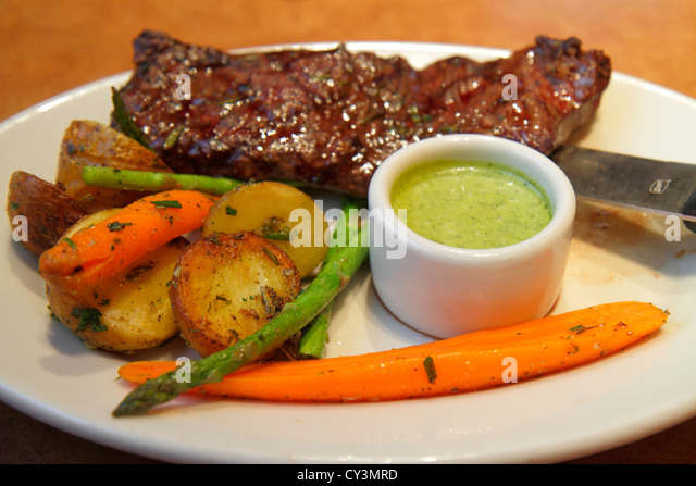 Rhode Island Providence Providence Place Mall Nordstrom department store The Marketplace Cafe restaurant churrasco - Stock Image