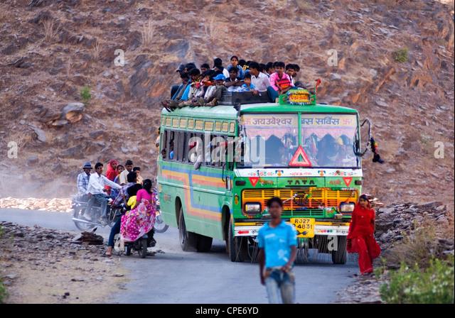 Public bus, Rajasthan, India, Asia - Stock-Bilder