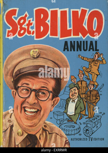 1960s UK Sgt Bilko Comic/ Annual Cover - Stock Image