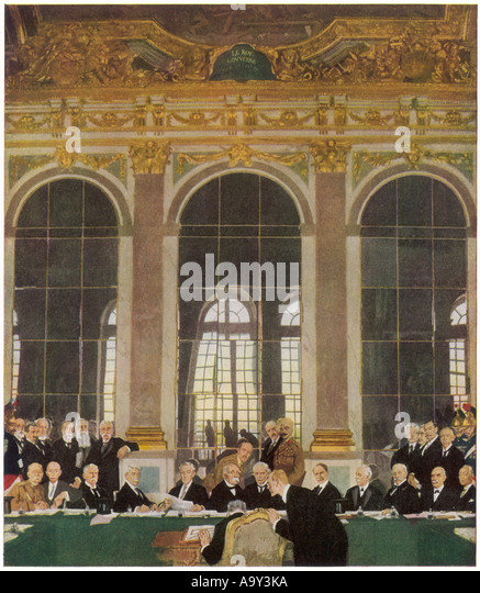 Treaty Of Versailles - Stock Image