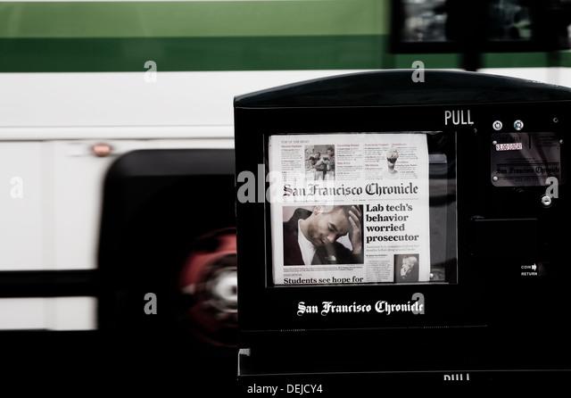 San Francisco Chronicle newspaper, taken in San Francisco - Stock-Bilder