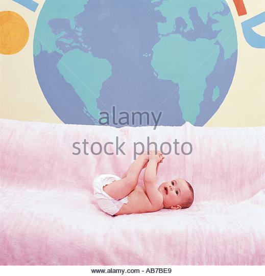 World baby - Stock Image