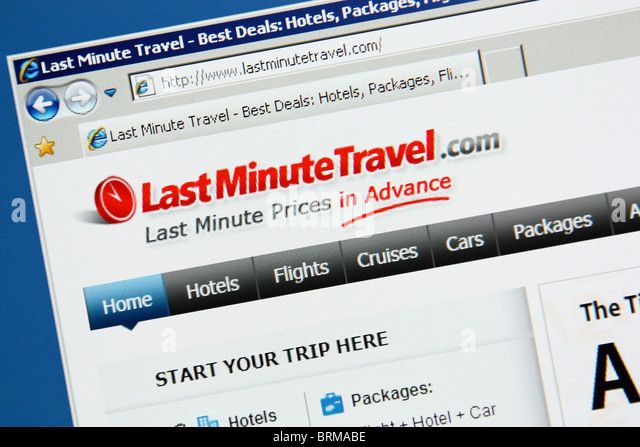 online travel booking lastminutetravel - Stock-Bilder