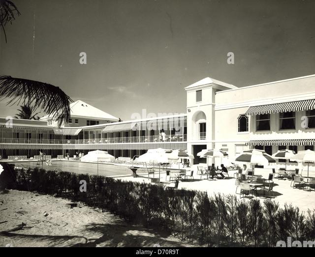 The Beach Club, Palm Beach, ca 1950 - Stock Image