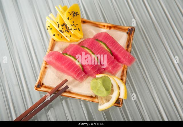 tuna sashimi - Stock Image