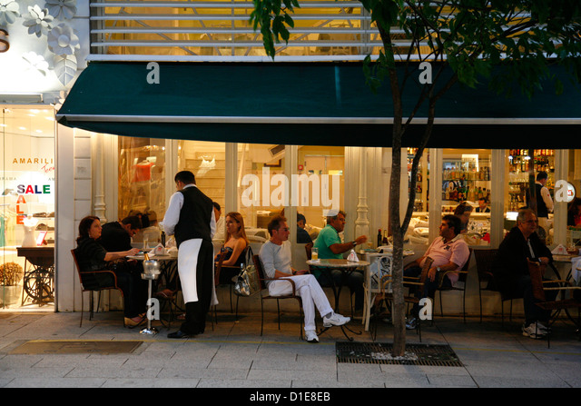 Tatou Cafe on Rua Oscar Freire, Sao Paulo, Brazil, South America - Stock Image