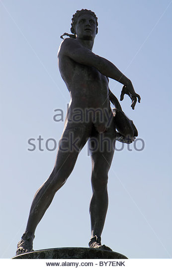 Maryland Baltimore Fort McHenry National Monument and Historic Shrine Star Spangled Banner Francis Scott Key sculpture - Stock Image
