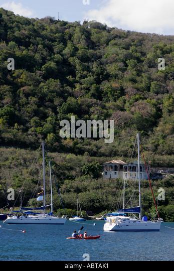 BVI Tortola Frenchman's Cay Soper's Hole Wharf and Marina - Stock Image