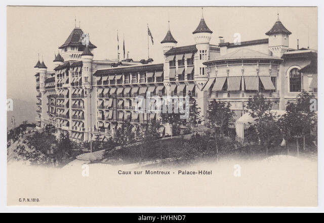 Palace Hotel, Caux, Switzerland - Stock Image