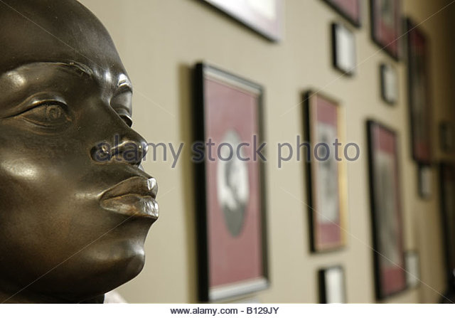 Selma Alabama National Voting Rights Museum and Institute Civil Rights Movement segregation Black History bust face - Stock Image