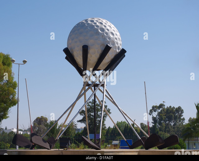 Monument golf on the road to Tunisia - Stock Image