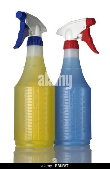 2 two Spray Bottles - Stock Image