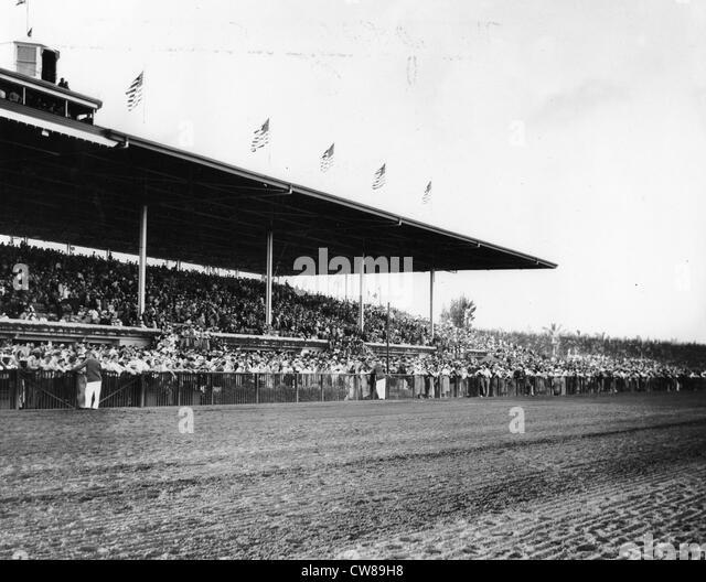 Hialeah Racetrack, Florida, 1940 - Stock Image
