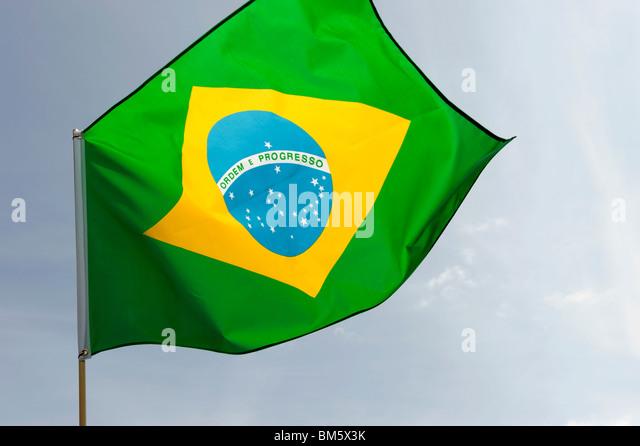 Brazil flag - Stock Image
