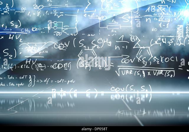 Math equation background - Stock Image
