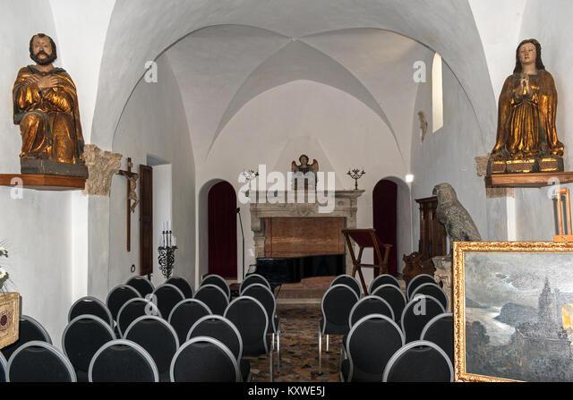 interior of the chapel at villa san michele, anacapri on the island of capri, italy - Stock Image