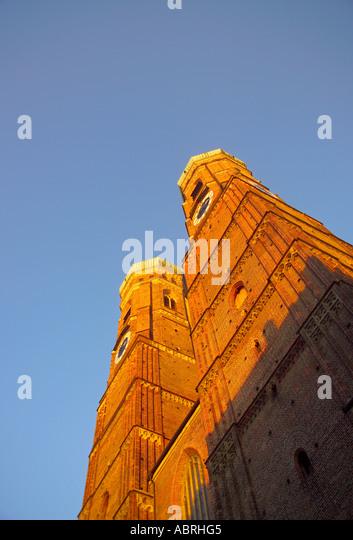 Europe Germany Bavaria Bayern Munich Frauenkirche - Stock Image