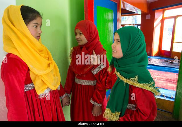 female students in kabul - Stock-Bilder