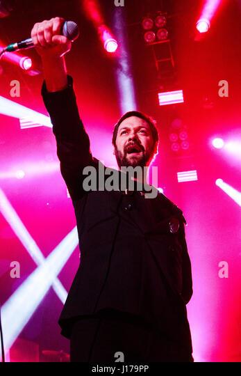 O2 Forum Kentish Town, London, UK 18th April 2017 Kasabian's  Tom Meighan, Kasabian performing in concert at - Stock Image