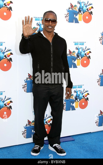 JAMIE FOXX RIO ADVANCE SCREENING. TWENTIETH CENTURY FOX CENTURY CITY LOS ANGELES CALIFORNIA USA 28 January 2011 - Stock Image