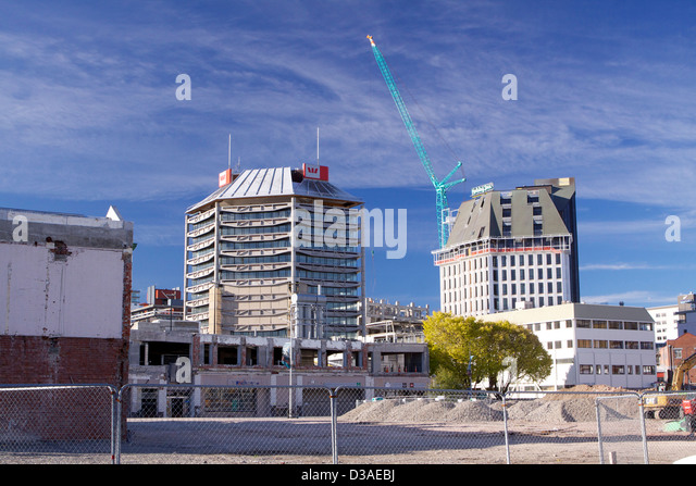 Christchurch New Zealand earthquake aftermath - Stock Image