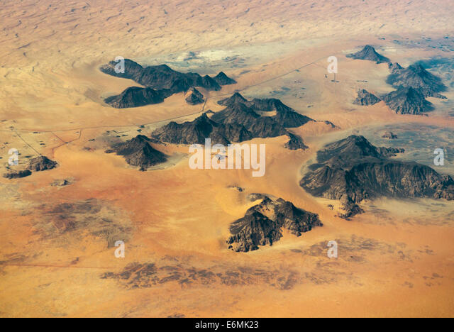 Beautiful desert landscapes in south west Saudi Arabia. - Stock Image