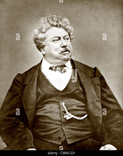 Alexandre Dumas père (1802-1870) popular French dramatist and historical novelist, best known as the author - Stock Image