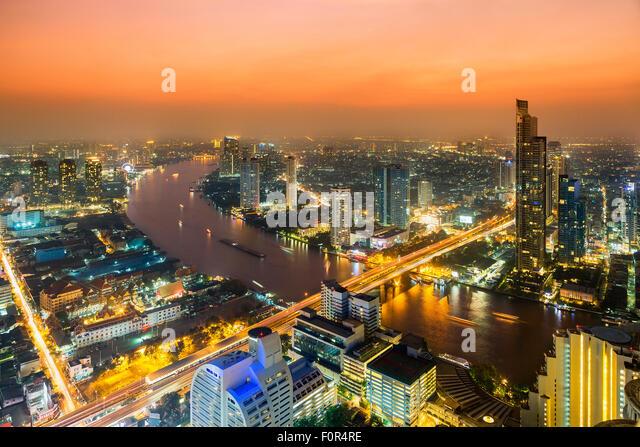Thailand, Bangkok skyline - Stock Image
