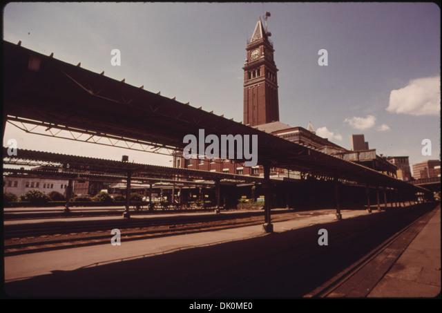 KING STREET PASSENGER TRAIN STATION IN SEATTLE, WASHINGTON HAS BEEN DESIGNATED AN HISTORICAL LANDMARK. AMTRAK IS... - Stock Image