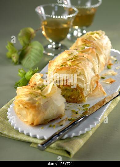 Crisp pear roll - Stock Image
